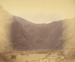 View of the valley, showing ruined site, Chini Tangai, Peshawar District